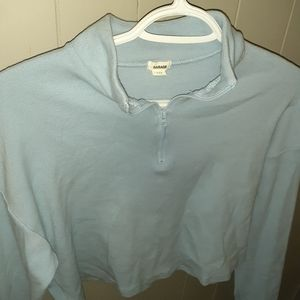 Baby blue turtleneck crop top